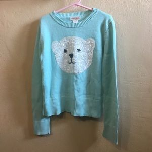 Cat & Jack Sequined Polar Bear Sweater